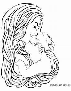 malvorlage mutter und baby familie kostenlose ausmalbilder