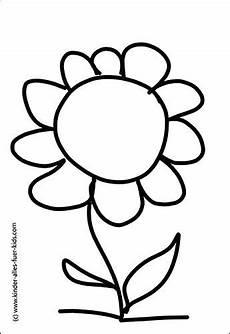 Ausmalbilder Blumen Einfach Einfache Ausmalbilder Mit Blumen Und Natur Zeichnungen