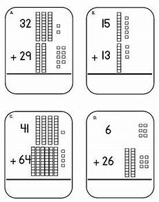 addition with regrouping worksheets with base ten blocks 9691 place value base ten block and cubes addition task cards adding tens center my teachers pay