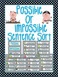 probability sentences worksheets 5887 probability math center possible or impossible sentence sort probability teaching math