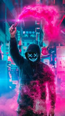 Neon Mask Wallpaper 4k 2160x3840 mask neon eye sony xperia x xz z5 premium hd
