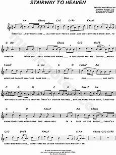 stairway to heaven lyrics led zeppelin quot stairway to heaven quot sheet leadsheet in c major print sku