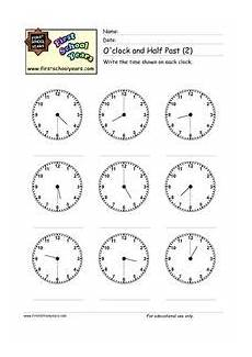time worksheets hour and half past 3019 o clock and half past 2 worksheet for 2nd 3rd grade lesson planet