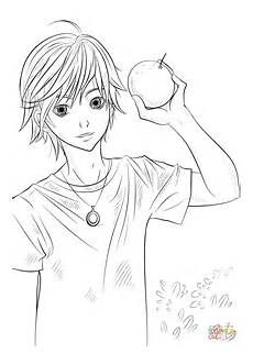 Ausmalbilder Anime Jungs Anime Outline Sketch Coloring Page