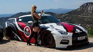 PORNSTAR Mareike Fox Driving Her Prior Design GT R PD750