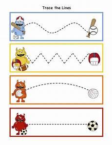 sports tracing worksheets 15881 free preschool printables monsters all printable met afbeeldingen leeractiviteiten