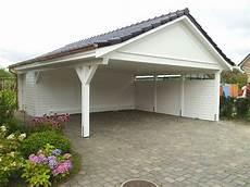 Doppel Carport Mit Satteldach Holz Garage Hergestellt