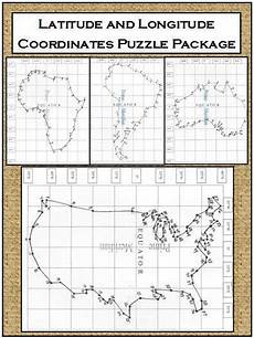 latitude and longitude puzzles bundle middle school geography social studies for kids 6th