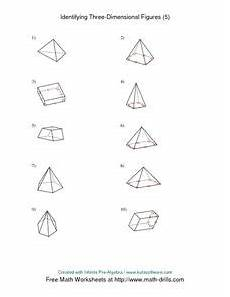 identifying three dimensional figures 5 worksheet for 5th 6th grade lesson planet