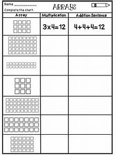 multiplication worksheets with arrays 4662 multiplication arrays worksheets by s tpt