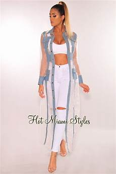 white sheer duster coats white sheer denim button up duster coat