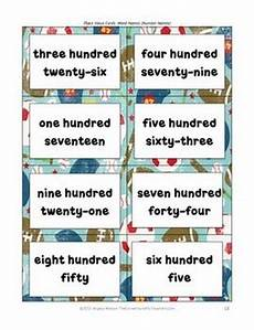 free place value cards for sorting matching and other