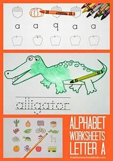 free instant download printable alphabet worksheets letter a