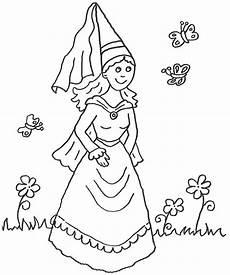 Ausmalbilder Prinzessin Und Ritter Ausmalbild Prinzessin Kostenlose Malvorlage Prinzessin