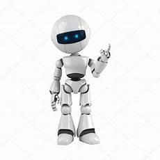 Robot Stay And Show Attention Stock Photo