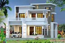 contemporary kerala house plans 2350 square feet modern contemporary style box type home