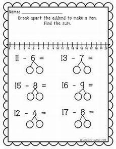 2nd grade math worksheet number bonds worksheet apart numbers to add use mental math
