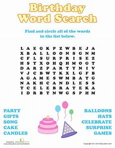 birthday celebration worksheets 20208 birthday word search with images birthday words happy birthday words
