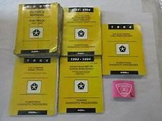 auto repair manual online 1994 dodge ram 1500 electronic toll collection 1994 dodge ram truck 1500 3500 service 4 powertrains shop repair manual set ebay