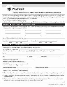 prudential life claim form fill online printable