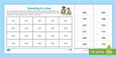 rounding in a row rounding to the nearest 100 worksheet
