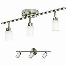 3 light track lighting adjustable wall or ceiling spot light fixture brushed nickel chrome