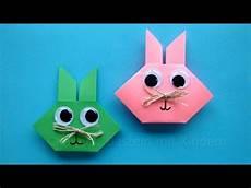 Osterhasen Falten Origami Hasen Basteln Mit Kindern