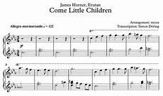 come little children 187 piano sheet music myuu
