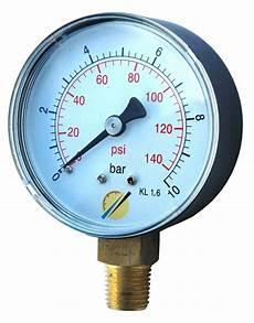 Manometre Pression Pompe Radial Sec 0 10 Bars Nr0100h Ebay