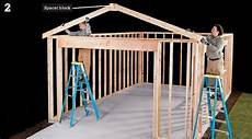 framing garage diy fyi step by step how to install garage roof framing