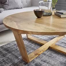 Table Basse Ronde En Bois De 100 Oslo Bois Dessus