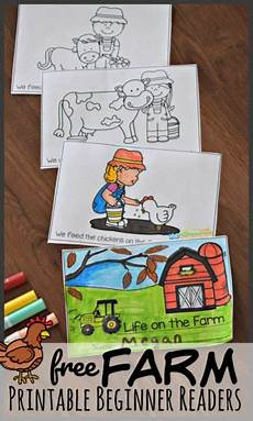 farm printable beginner reading books kindergarten