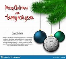 volleyball ball hanging a christmas tree branch stock vector illustration of happy black
