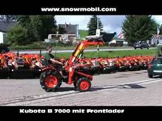 Kleintraktor Kubota B7000 Mit Frontlader