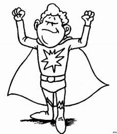 junger superheld ausmalbild malvorlage comics