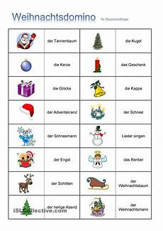 weihnachten domino unterricht und