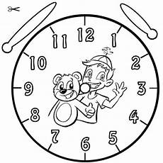 Uhr Malvorlagen Zum Ausdrucken Kostenlose Malvorlage Uhrzeit Lernen Ausmalbild Benni Und