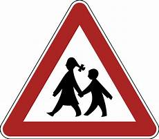 germany children danger warning road sign germany