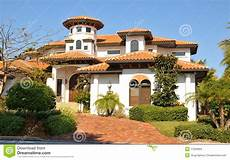 Style Home With Tower Stock Photo Image 17929094