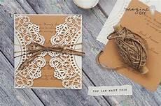 rustic doily wedding invitations imagine diy