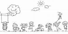 ausmalbild spielende kinder vorarlberger kinderdorf