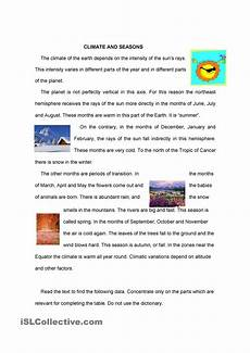 weather reading comprehension worksheets 14512 seasons free reading comprehension worksheets reading comprehension worksheets seasons