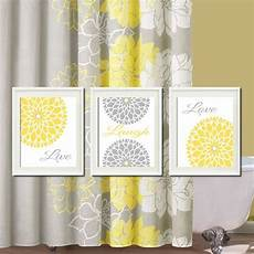 Etsy Yellow And Gray Bathroom by Yellow Gray Wall Live Laugh Bedroom Pictures