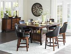 counter height burnished dining table swivel pub chairs diningroom furniture ebay