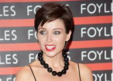dannii minogue very short pixie haircut with longer top hair