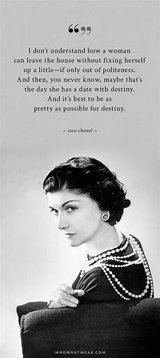 Coco Chanel S Quotes On Fashion And Style Whowhatwear Uk