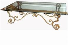 wrought iron coffee tables with glass top wrought iron coffee table with glass top at 1stdibs