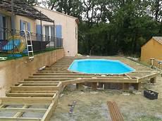 terrasse bois pour piscine hors sol mailleraye fr jardin