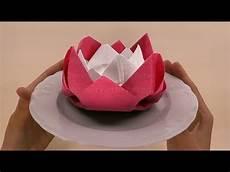 servietten falten ostern blume diy osterdeko