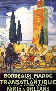 jeanne thil quot bordeaux maroc quot 1929 affiches de voyage